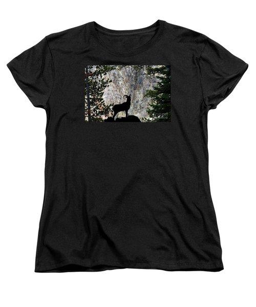 Women's T-Shirt (Standard Cut) featuring the photograph Big Horn Sheep Silhouette by Dan Friend