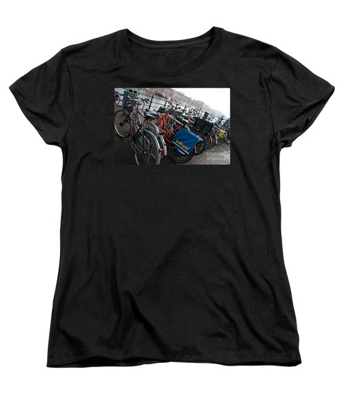 Bikes In Amsterdam Women's T-Shirt (Standard Cut) by Carol Ailles