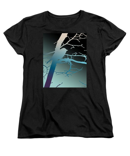 Women's T-Shirt (Standard Cut) featuring the photograph Bird At Twilight by Lauren Radke