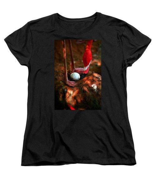 Women's T-Shirt (Standard Cut) featuring the photograph Bird Is The Word by Lon Casler Bixby