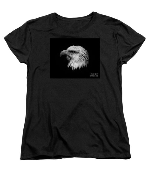 Black And White Eagle Women's T-Shirt (Standard Cut) by Steve McKinzie