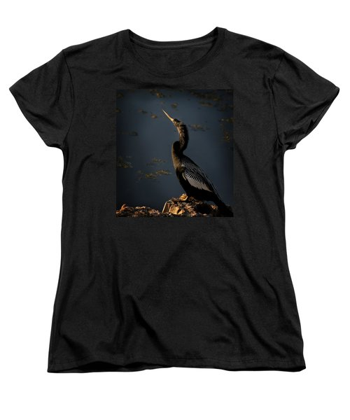 Women's T-Shirt (Standard Cut) featuring the photograph Black Light by Steven Sparks