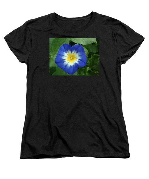 Women's T-Shirt (Standard Cut) featuring the photograph Blue Burst by Bonfire Photography