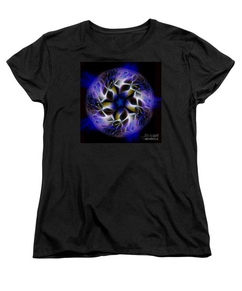 Blue Creation Women's T-Shirt (Standard Cut) by Danuta Bennett