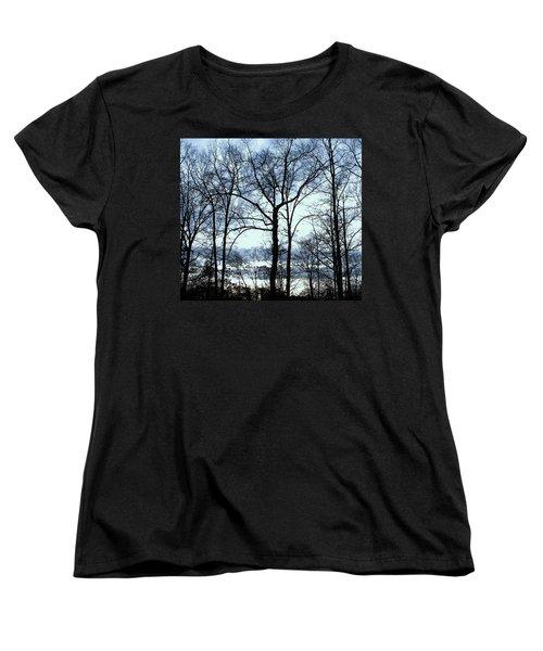 Women's T-Shirt (Standard Cut) featuring the photograph Blue Mirage by Pamela Hyde Wilson