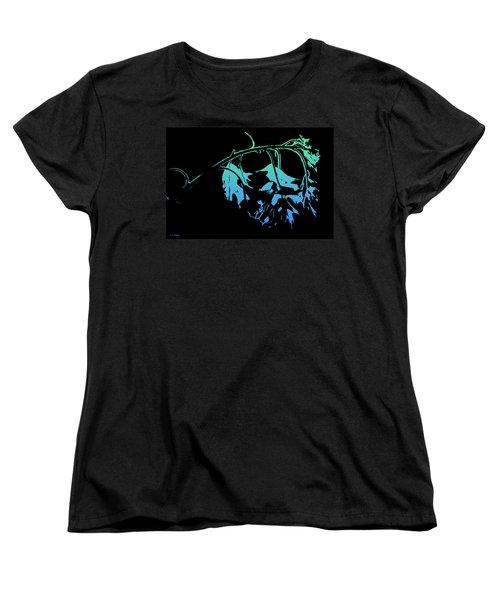 Women's T-Shirt (Standard Cut) featuring the photograph Blue On Black by Lauren Radke