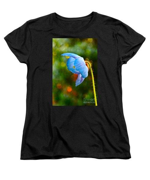 Blue Poppy Dreams Women's T-Shirt (Standard Cut) by Byron Varvarigos