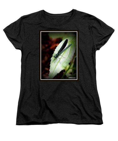 Blue Women's T-Shirt (Standard Cut) by Priscilla Richardson