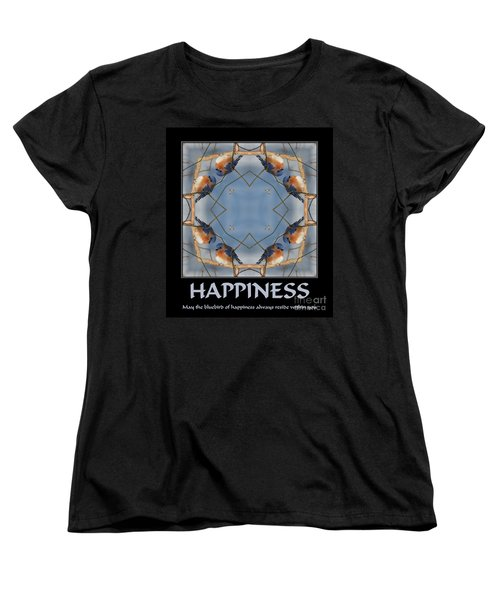 Bluebird Kaleidoscope Happiness Women's T-Shirt (Standard Cut) by Smilin Eyes  Treasures