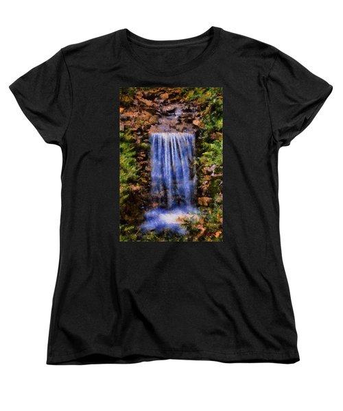 Botanical Garden Falls Women's T-Shirt (Standard Cut) by Lynne Jenkins