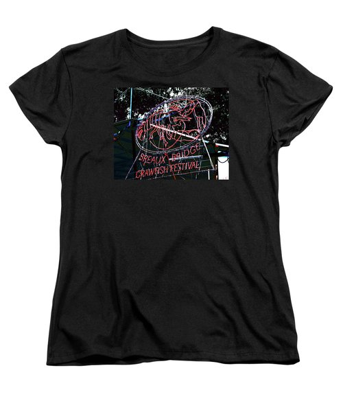 Breaux Bridge Crawfish Festival Women's T-Shirt (Standard Cut) by Lizi Beard-Ward