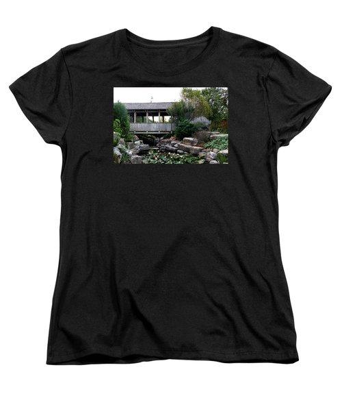 Women's T-Shirt (Standard Cut) featuring the photograph Bridge Over Water by Elizabeth Winter