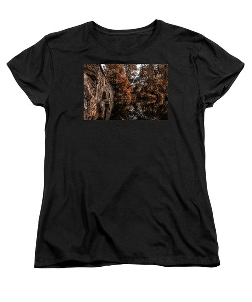 Women's T-Shirt (Standard Cut) featuring the photograph Bridge To Autumn by Tom Gort