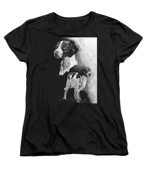 Women's T-Shirt (Standard Cut) featuring the drawing Brittany by Rachel Hames