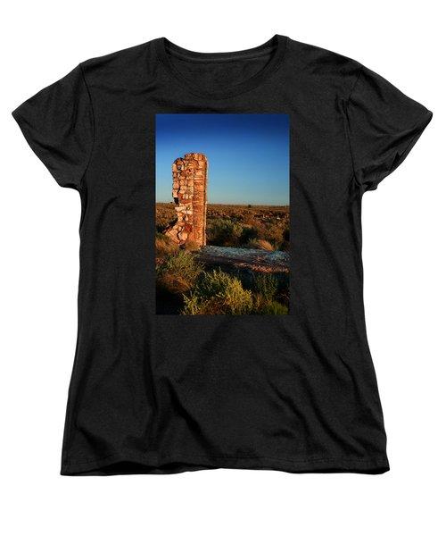 Women's T-Shirt (Standard Cut) featuring the photograph Broken Glass At Two Guns by Lon Casler Bixby