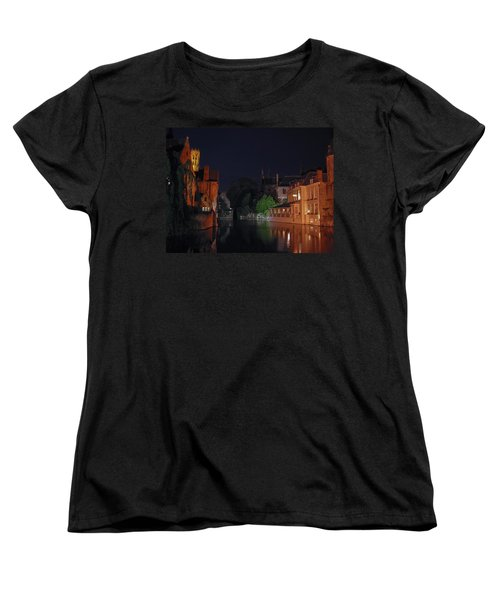 Women's T-Shirt (Standard Cut) featuring the photograph Bruges by David Gleeson