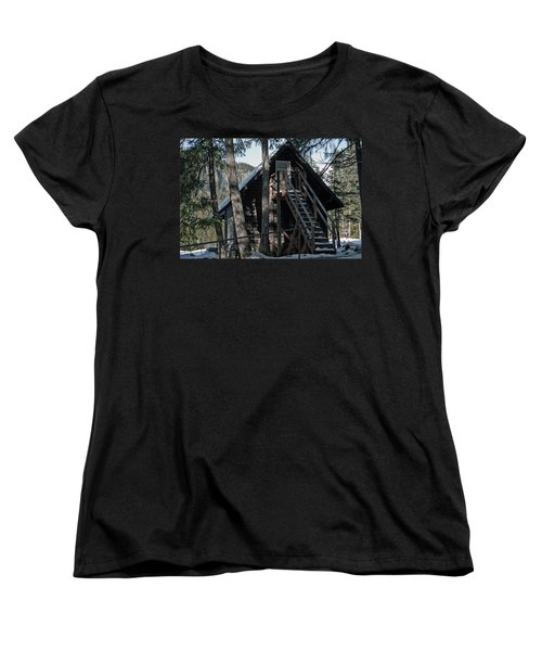 Women's T-Shirt (Standard Cut) featuring the photograph Cabin Get Away by Tikvah's Hope