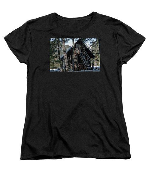Cabin Get Away Women's T-Shirt (Standard Cut) by Tikvah's Hope