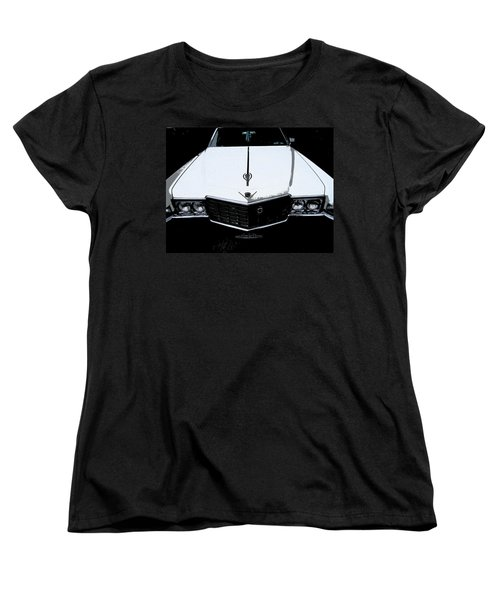 Women's T-Shirt (Standard Cut) featuring the photograph Cadillac Pimp Mobile by Kym Backland