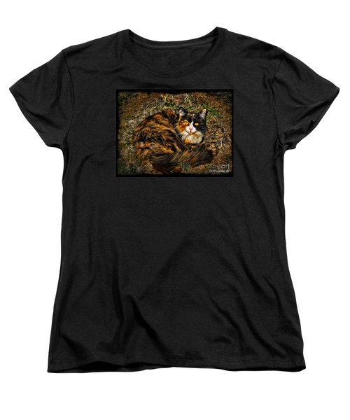 Calico Cat Women's T-Shirt (Standard Cut) by Joan  Minchak