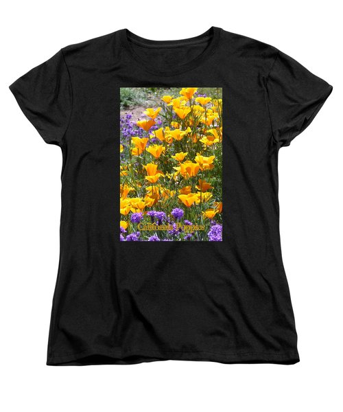 Women's T-Shirt (Standard Cut) featuring the photograph California Poppies by Carla Parris