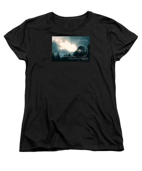 Calm The Storm Women's T-Shirt (Standard Cut) by Lena Auxier