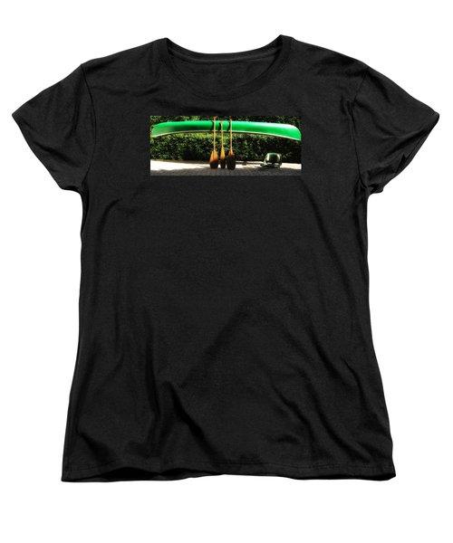 Canoe To Nowhere Women's T-Shirt (Standard Cut) by Alec Drake