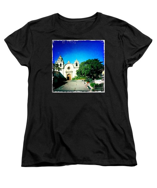 Women's T-Shirt (Standard Cut) featuring the photograph Carmel Mission by Nina Prommer