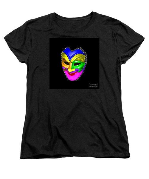 Women's T-Shirt (Standard Cut) featuring the photograph Carnival Mask by Blair Stuart