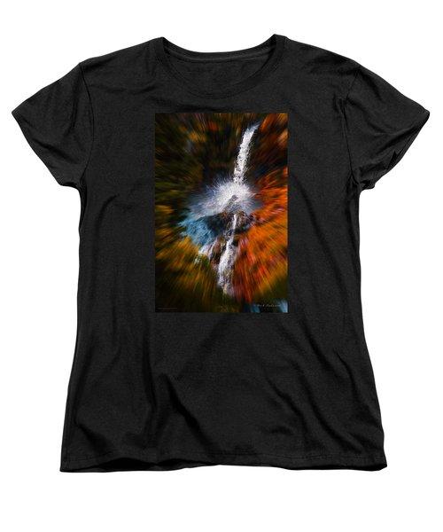 Cascade Waterfall Women's T-Shirt (Standard Cut) by Mick Anderson