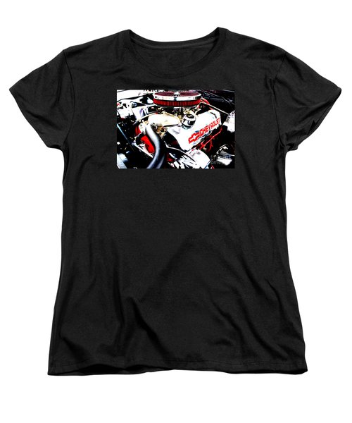 Women's T-Shirt (Standard Cut) featuring the digital art Chevy Power Plant by Tony Cooper