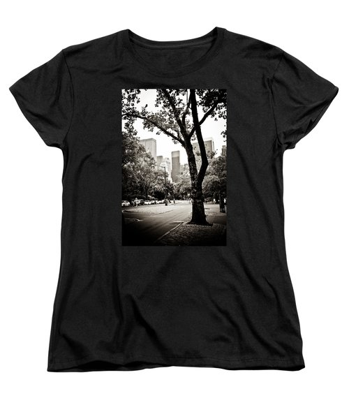 Women's T-Shirt (Standard Cut) featuring the photograph City Contrast by Sara Frank
