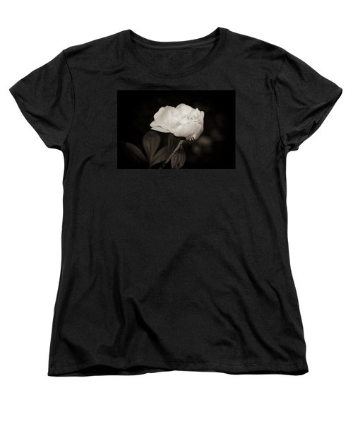 Women's T-Shirt (Standard Cut) featuring the photograph Classic Peony by Sara Frank