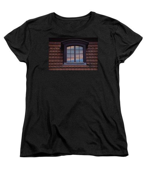 Cloud Reflections Women's T-Shirt (Standard Cut) by Brent L Ander