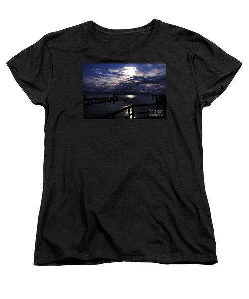 Women's T-Shirt (Standard Cut) featuring the photograph Cold Night On The Water by Clayton Bruster