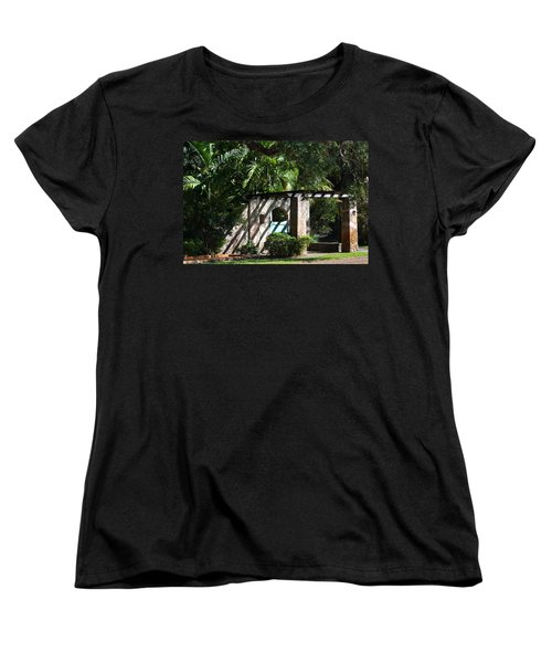 Women's T-Shirt (Standard Cut) featuring the photograph Coral Gables Gate by Ed Gleichman