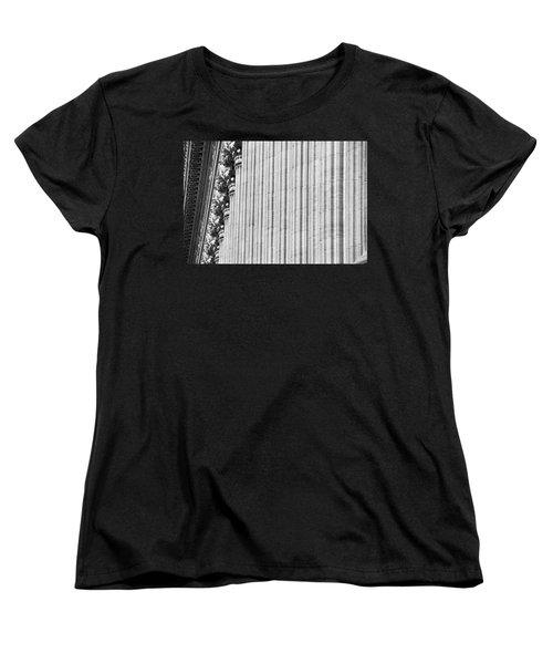 Women's T-Shirt (Standard Cut) featuring the photograph Corinthian Columns by John Schneider