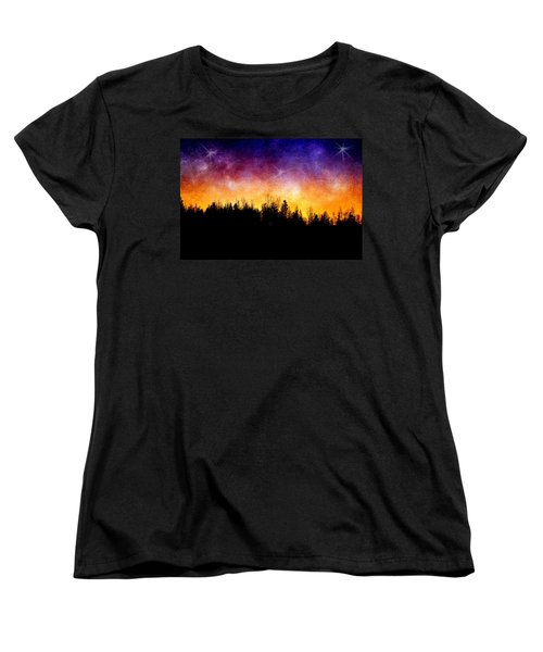 Cosmic Night Women's T-Shirt (Standard Cut) by Ellen Heaverlo