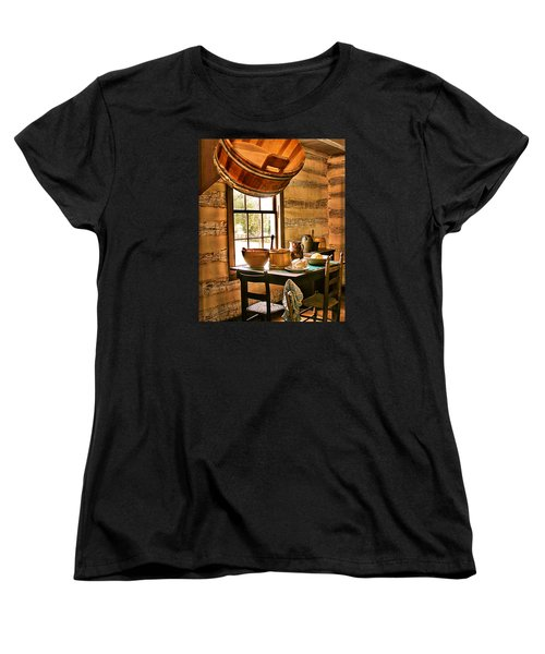 Women's T-Shirt (Standard Cut) featuring the digital art Country Kitchen by Mary Almond