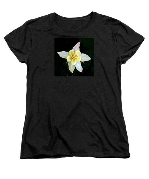 Creamy Columbine Women's T-Shirt (Standard Cut) by Nick Kloepping