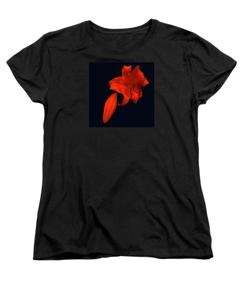 Women's T-Shirt (Standard Cut) featuring the photograph Crimson Lily by Nick Kloepping