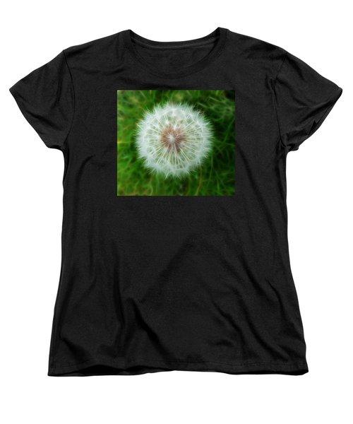 Women's T-Shirt (Standard Cut) featuring the photograph Dandelion Seed Head by Lynn Bolt