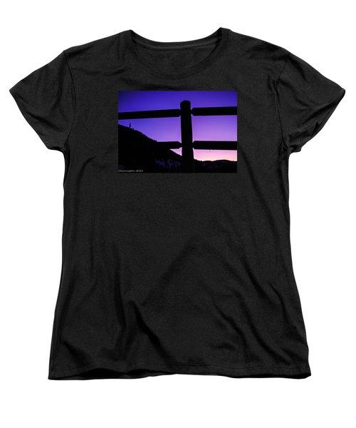 Women's T-Shirt (Standard Cut) featuring the photograph Darkening Sky by Shannon Harrington