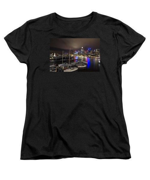 Darling Harbor Sydney Skyline 2 Women's T-Shirt (Standard Cut) by Douglas Barnard