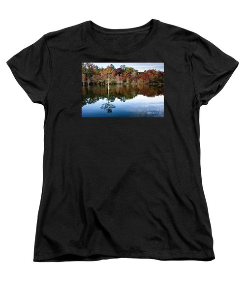 Women's T-Shirt (Standard Cut) featuring the photograph Beaver's Bend Defiant Cypress by Tamyra Ayles