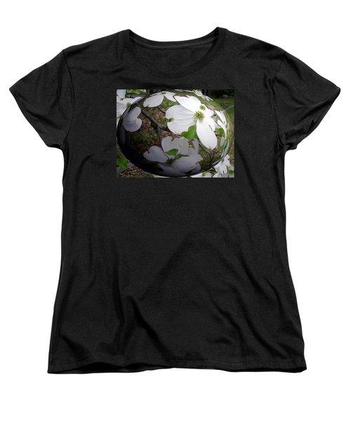 Dogwood Under Glass Women's T-Shirt (Standard Cut) by Pamela Hyde Wilson