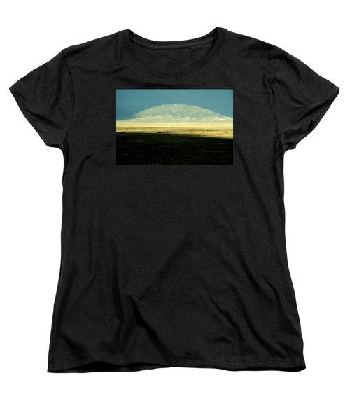 Dome Mountain Women's T-Shirt (Standard Cut) by Brent L Ander