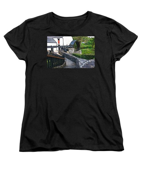 Women's T-Shirt (Standard Cut) featuring the photograph Down To The Mill by Charlie and Norma Brock