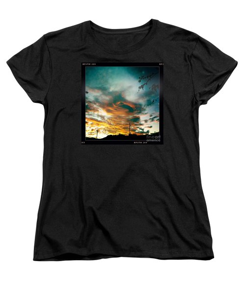 Women's T-Shirt (Standard Cut) featuring the photograph Drama In The Sky by Nina Prommer