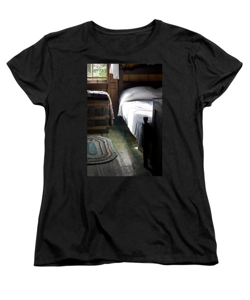 Women's T-Shirt (Standard Cut) featuring the photograph Dudley Farmhouse Interior No. 1 by Lynn Palmer